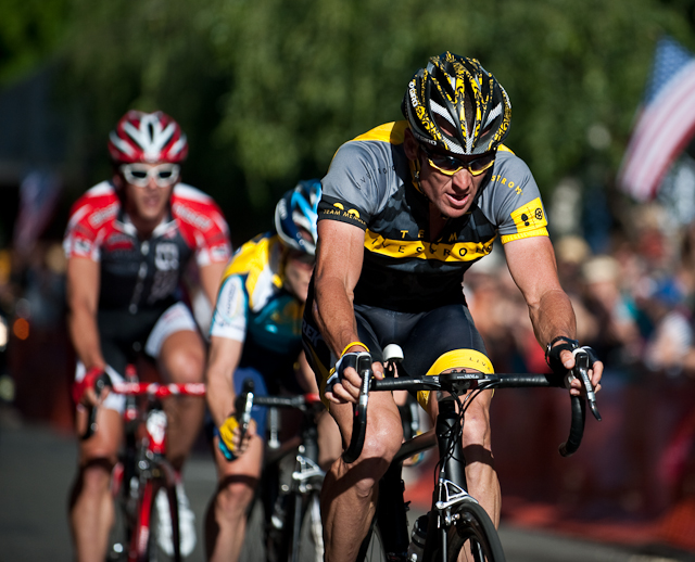Armstrong and Leipheimer     CREDIT: Al Crawford