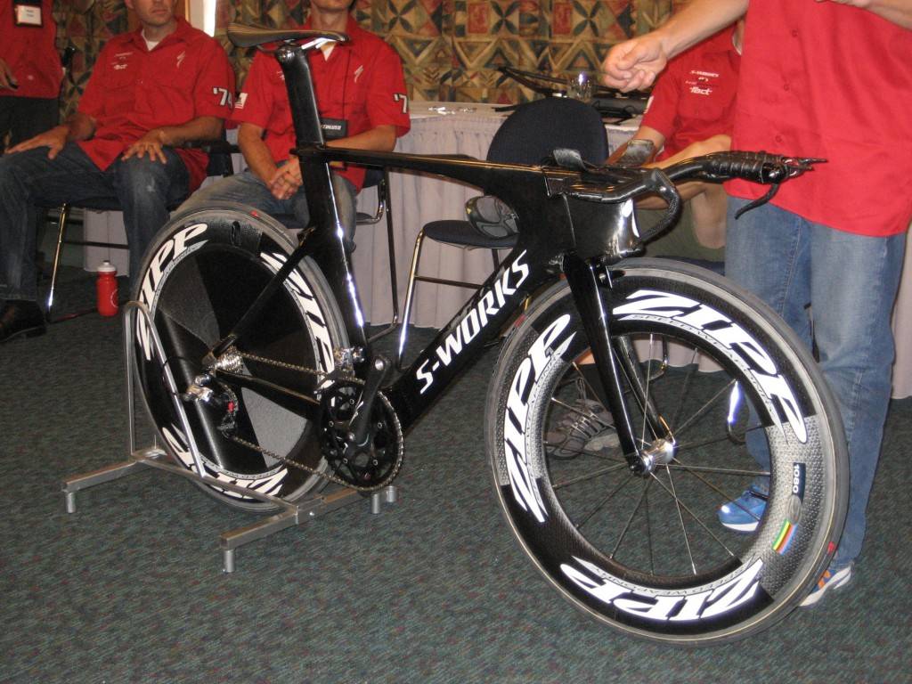The baned Shiv at the Specialized launch
