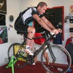 Retul measures the rider's movement on the bike.